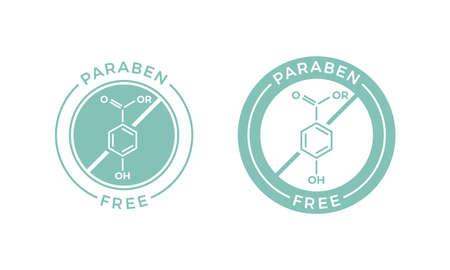 Etiqueta de etiqueta libre de la salud y la salud del icono médico . vector de la empresa del icono de la muestra de la química de la química de diseño de sistema de cuidado de la piel natural cosmética Foto de archivo - 108054556