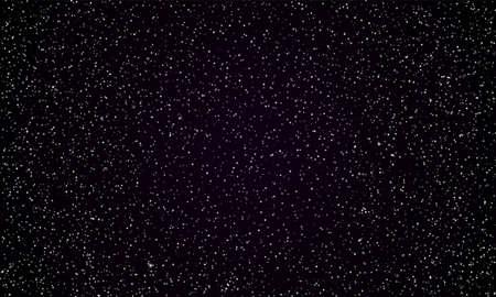 Sfondo spazio cielo stellato di perfetta notte oscura e stelle scintillanti. Vector vere stelle e pianeti brillano in una perfetta galassia nera