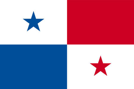 Panama national flag vector background icon for travel design 写真素材 - 108090637