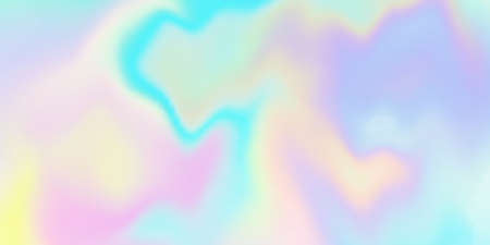 Holographic iridescent background. Rainbow hologram pattern. Trendy neon gradient pastel texture