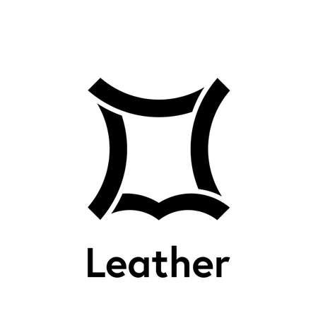 Modèle d'icône de logo en cuir