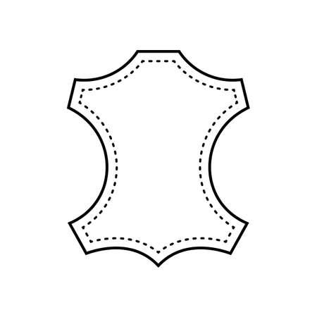 Plantilla de icono de logotipo de cuero.