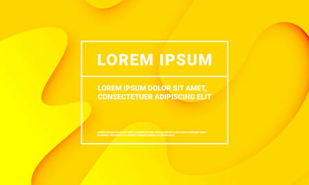 Minimal yellow background for presentation backdrop template. Vector abstract yellow color with soft fluid gradient pattern texture Ilustração