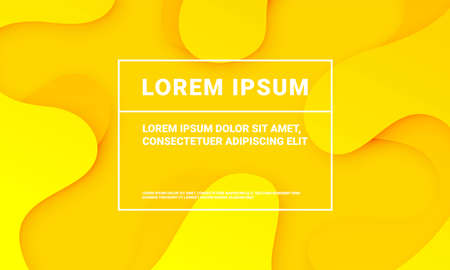 Abstract minimal yellow background with fluid color gradient. Presentation yellow pattern backdrop template Vector Illustratie