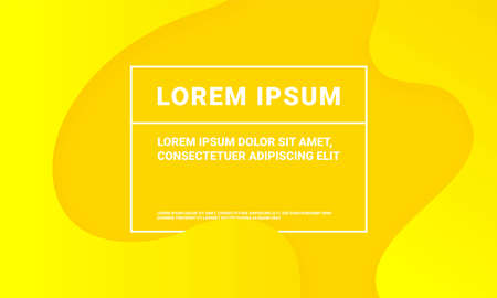 Abstract yellow background with minimal soft fluid pattern. Vector yellow soft geometric fluid color gradient backdrop template
