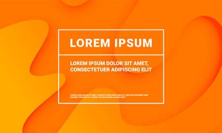 Abstract minimal orange background with fluid color gradient. Presentation orange modern pattern backdrop template