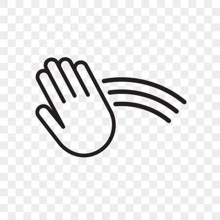 Hand sensor vector icon. Hand towel and soap dispenser, automatic hand dryer and water tap sensor touch sign Illustration