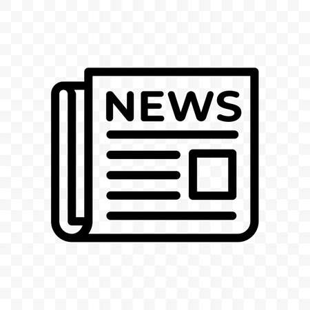 News newspaper vector line web newsletter and app linear icon Illustration