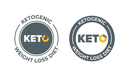 Ketogenic diet vector icon. 100 percent weight loss keto diet nutrition label