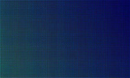 Fond de texture d'écran de mur vidéo LED. Dégradé de diode LED de lumière bleue vectorielle, écran vidéo numérique
