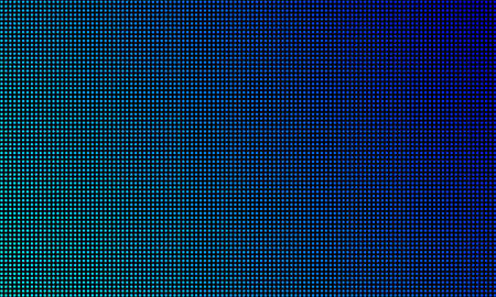 LED video wall screen texture background. Vector blue light LED diode gradient, digital video screen