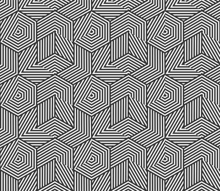 Abstract geometric seamless pattern background. Vector irregular polygon line grid, honeycomb texture pattern background