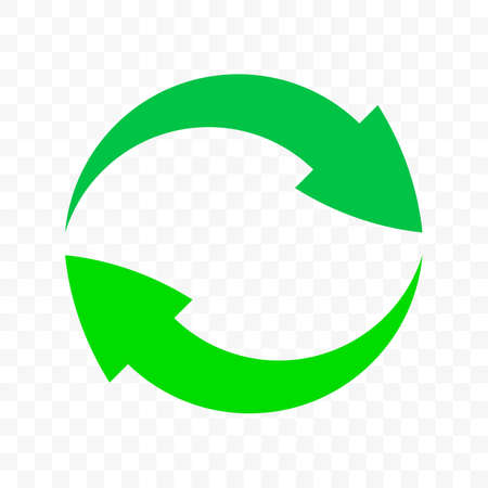 Recycle arrows circle icon. Vector eco waste bin sign, organic reuse and recycle bio package symbol