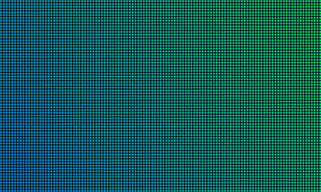 LED TV screen monitor with diode light texture background. Vector video wall digital led tv display with gradient color mesh pattern Ilustração