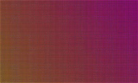 LED TV screen monitor, digital diode light texture background. Vector video wall led tv display, purple gradient color mesh pattern Ilustrace