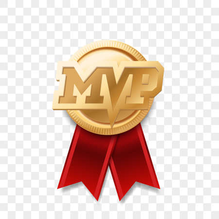 MVP gold medal award. Stock Illustratie