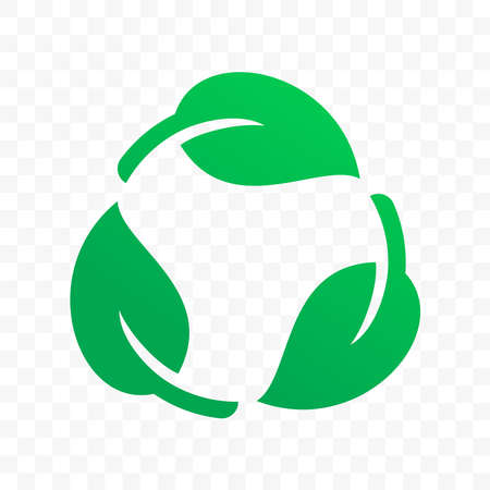 Biodegradable recyclable plastic free label vector icon. Eco safe bio recyclable and degradable package stamp
