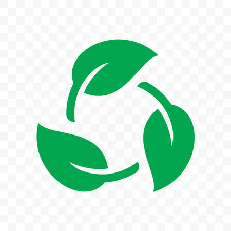 Biodegradable recyclable plastic free package icon. Vector bio recyclable degradable label template