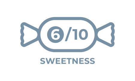 Sweetness level vector food package label. Product sugar sweet level, candy icon