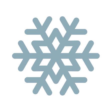 Snowflake vector line icon. Frozen, snow frost and fridge snowflake symbol