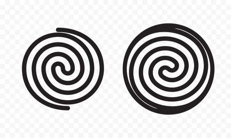 Induction icon, electric cooking hob vector symbols. Coking stove or oven grate cooker and cookware pans surface cookware induction spring spiral icon sign