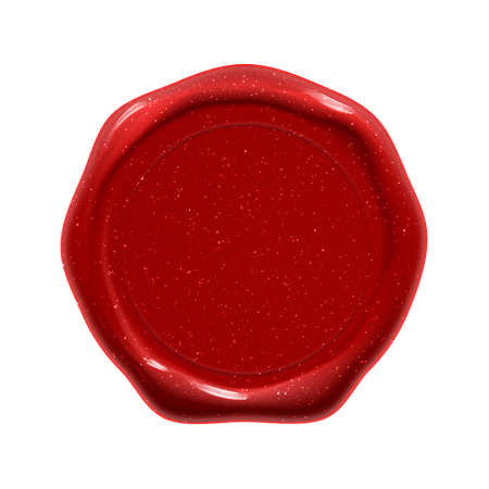 Wax seal stamp, red guarantee certificate and quality label