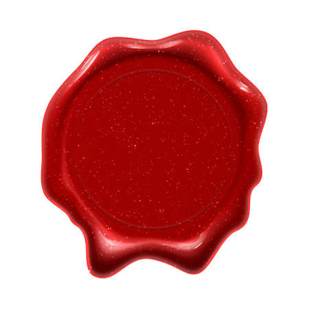 Wax seal stamp, red label for certificate, diploma and premium quality guarantee