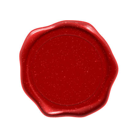 Wax seal stamp, guarantee certificate, diploma and premium quality warranty, red wax seal label 版權商用圖片
