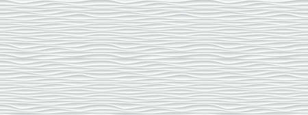 Wall texture wave pattern, white paper background, vector modern seamless abstract decor with surface ripples, geometric cover decoration design Stock Illustratie