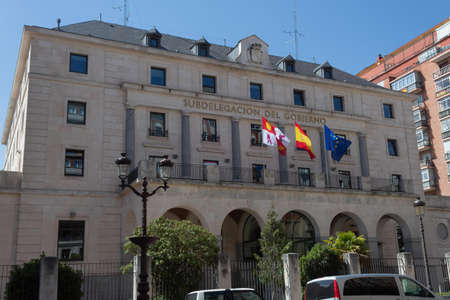 BURGOS, SPAIN - JULY 22 - 2020: Government sub-delegation in Burgos on a summer day