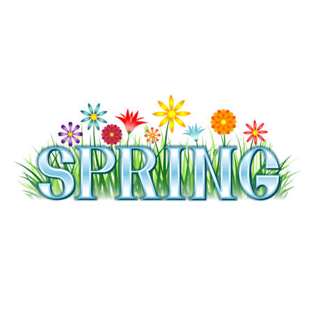 spring: A colorful spring themed banner