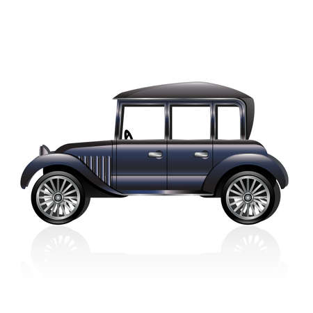 Illustration of an antique car  Vector