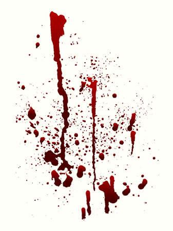Een bloedspatten afbeelding op wit Vector Illustratie