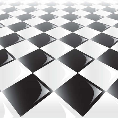 A 3d perspective view of a chess or checker board