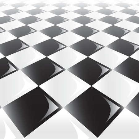 logica: Una vista en perspectiva 3D de un tablero de ajedrez o corrector
