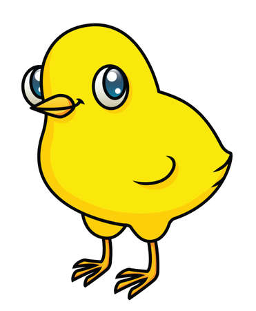 An illustration of a cartoon chick  Stock Vector - 18203894