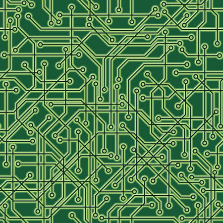 A seamlessly repeatable circuit board background  Vector