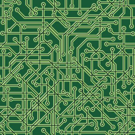 Een naadloos herhaalbaar circuit board achtergrond