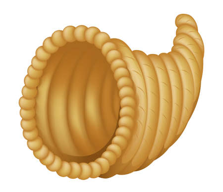 cuerno de la abundancia: Ilustración que representa una cesta cornucopia vacía