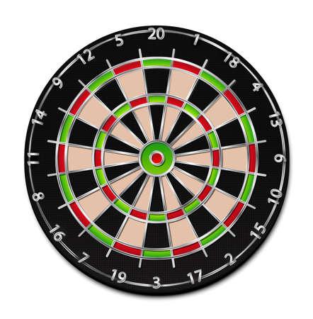 A realistic dartboard illustration