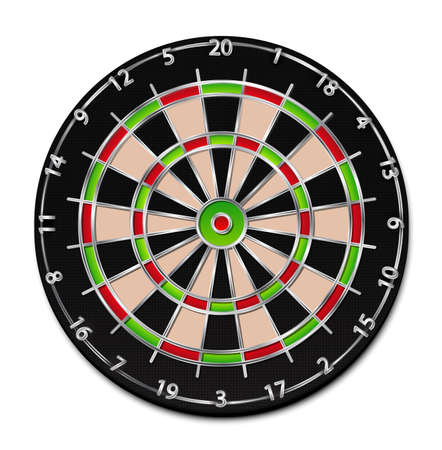 A realistic dartboard illustration  Vector
