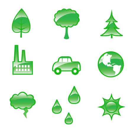 activism: Un conjunto de dieciocho gr�ficos brillantes activismo relacionadas con el medio ambiente