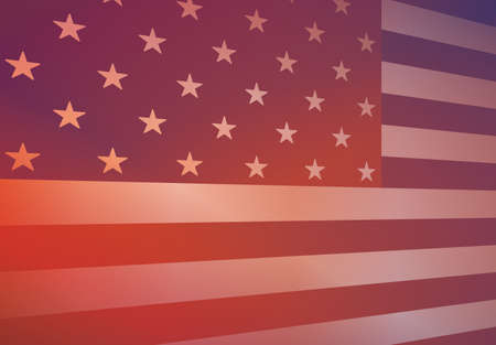 An abstract american flag background  Vector