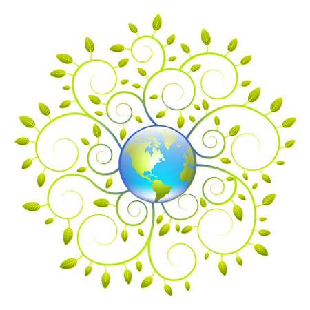 activism: Tierra verde concepto