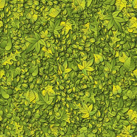 シームレスに繰り返しの葉の背景  イラスト・ベクター素材