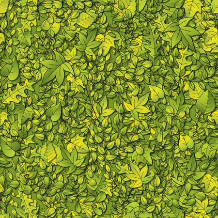 A seamlessly repeatable leaf background  Vector