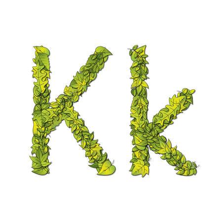 libro de cuentos: Fuente que representa a un libro de cuentos Leafy la letra K en may�scula y min�scula