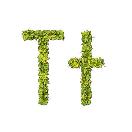 libro de cuentos: Fuente cuentos frondosa que representa una letra T en may�sculas y min�sculas