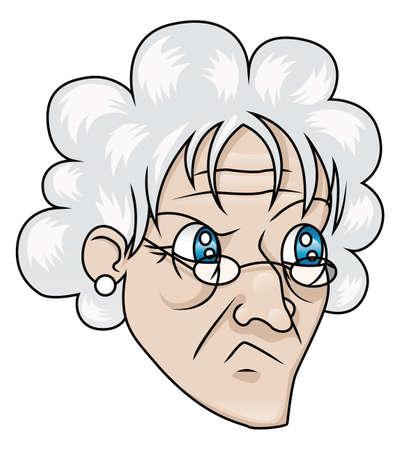 怪訝な表情と老婦人 写真素材 - 18263530