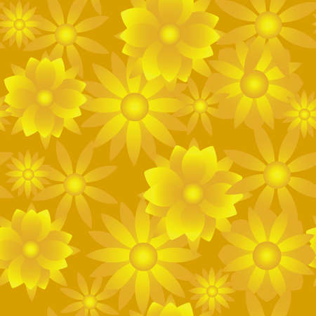 A beautiful seamless golden floral background  Vector